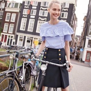 Jcrew Sailor Skirt in Double-Serge Wool
